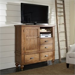 Riverside Furniture Summerhill Media Chest in Canby Rustic Pine