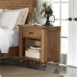 Riverside Furniture Summerhill 1 Drawer Nightstand in Canby Rustic Pine