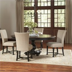 Riverside Furniture Williamsport Dining Table Set in Nutmeg/Kettle Black