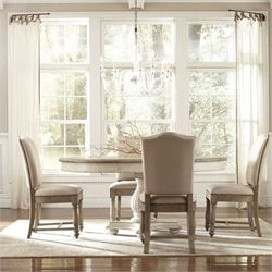 Riverside Furniture Coventry 5 Piece Dining Table Set in Weathered Driftwood and Dover  White