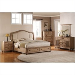 Riverside Coventry 5 Piece Queen Bedroom Set in Driftwood