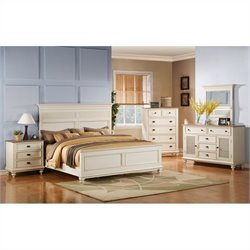 Riverside Coventry 4 Piece Queen Bedroom Set in Dover White