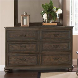 Riverside Furniture Belmeade Six Drawer Dresser in Old World Oak