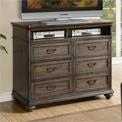 Riverside Furniture Belmeade Entertainment Media Chest in Old World Oak