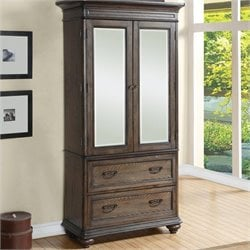 Riverside Furniture Belmeade Armoire in Old World Oak