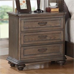 Riverside Furniture Belmeade 3 Drawer Nightstand in Old World Oak
