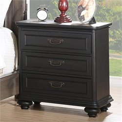 Riverside Furniture Belmeade Nightstand in Raven Black