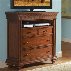 Riverside Furniture Windward Bay Media Chest in Warm Rum