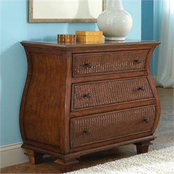 Riverside Furniture Windward Bay Bombe Accent Chest in Warm Rum