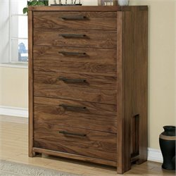 Riverside Furniture Terra Vista Six Drawer Chest in Casual Walnut