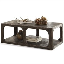 Riverside Furniture Bellagio Coffee Table in Worn Black