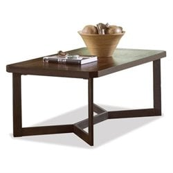Riverside Madeira Wood Rectangular Coffee Table in Weathered Copper