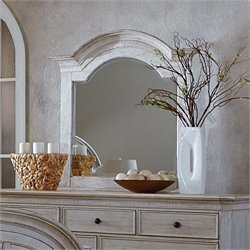 Riverside Aberdeen Arch Mirror in Weathered Worn White