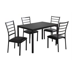 5 Piece Dining Set in Black
