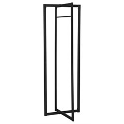 Metal Coat Rack in Black