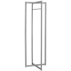 Metal Coat Rack in Silver