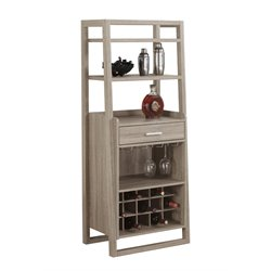 Ladder Style Home Bar in Dark Taupe