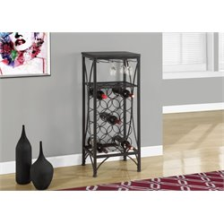 Metal Wine Rack in Black