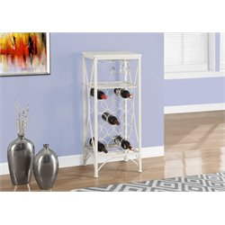 Metal Wine Rack in White