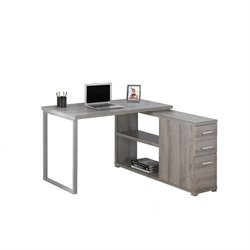 L Shaped Computer Desk in Dark Taupe