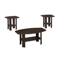 3 Piece Coffee Table Set in Cappuccino