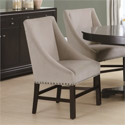 2 Piece Dining Chair in Taupe