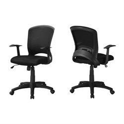Adjustable Mid Back Office Chair in Black