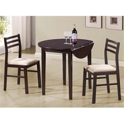 2 Piece Drop Leaf Dinette Set in Cappuccino