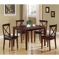 5 Piece Dining Set in Dark Cappuccino