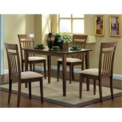5 Piece Dining Set in Walnut