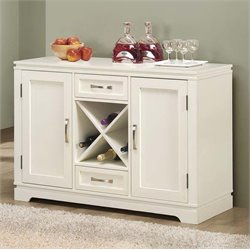Wine Rack Server in Pearl White