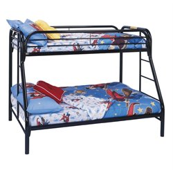 Twin Over Full Metal Bunk Bed in Black