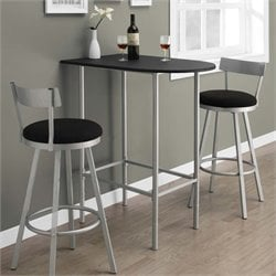 Metal Pub Table in Black and Silver