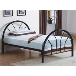 Twin Metal Bed in Black