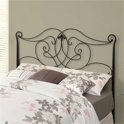 Full Queen Metal Spindle Headboard in Satin Black