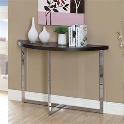 Console Table in Cappuccino and Chrome