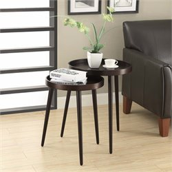 2 Piece Nesting Table Set in Cappuccino