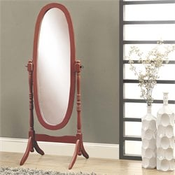Oval Cheval Mirror in Walnut