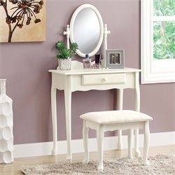 2 Piece Bedroom Vanity Set in Antique White