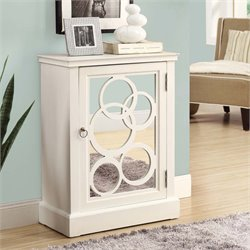 Contemporary Mirrored Accent Chest in White