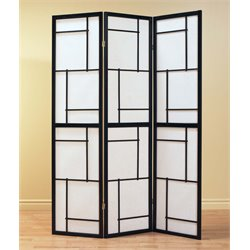 3 Panel Room Divider in Black