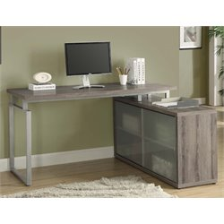 Corner Computer Desk in Dark Taupe