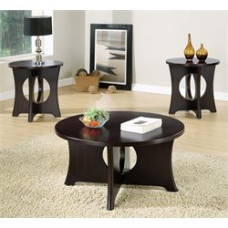 3 Piece Coffee Table Set in Dark Espresso