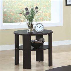 Round End Table in Cherry