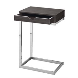 Monarch Single Drawer Accent Table in Gray Wood