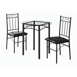 Monarch Round 3 Piece Round Dining Set-SH