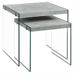 Monarch 2 Piece Nesting Table Set in Gray Cement