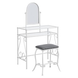 Monarch 2 Piece Bedroom Vanity Set in White