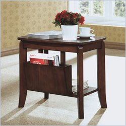 Solid Top Magazine End Table in Walnut