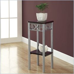 Plant Stand in Cappuccino and Silver